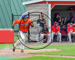 Cortland Crush Joe Assenza (2) running the bases against after getting a hit against the Olean Oilers at Wallace Field on the SUNY Cortland campus in Cortland, New York on Thuesday, July 2,  ...
