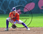 Cortland Crush Josh Reuter (23) fielding the ball against the Olean Oilers at Wallace Field on the SUNY Cortland campus in Cortland, New York on Thuesday, July 2, 2017. Cortland won 7-2.