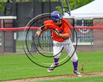 Cortland Crush Tyler Schmidt (21) takes off for Home Base against the Olean Oilers at Wallace Field on the SUNY Cortland campus in Cortland, New York on Thuesday, July 2, 2017. Cortland won  ...