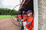 Cortland Crush Coach Kevin Foley (41) in the dugout during the game against the Olean Oilers at Wallace Field on the SUNY Cortland campus in Cortland, New York on Thuesday, July 2, 2017. Cor ...