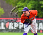 Cortland Crush Joshua Delaney (39) on the mound against the Olean Oilers at Wallace Field on the SUNY Cortland campus in Cortland, New York on Thuesday, July 2, 2017. Cortland won 7-2.