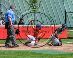 Cortland Crush Joe Assenza (2) slides safely into Home Place to score a run against the Olean Oilers at Wallace Field on the SUNY Cortland campus in Cortland, New York on Thuesday, July 2, 2 ...