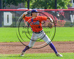 Cortland Crush Dylan Ott (4) about to throw the ball against the Olean Oilers at Wallace Field on the SUNY Cortland campus in Cortland, New York on Thuesday, July 2, 2017. Cortland won 7-2.