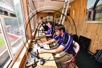 Cortland Crush staff working the game against the Olean Oilers at Wallace Field on the SUNY Cortland campus in Cortland, New York on Thuesday, July 2, 2017. Cortland won 7-2.