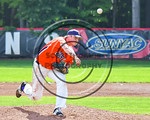 Cortland Crush Brett Wilkes (29) pitching against the Olean Oilers at Wallace Field on the SUNY Cortland campus in Cortland, New York on Thuesday, July 2, 2017. Cortland won 7-2.