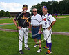 Syracuse Spartans Manager, Pierce Mahar and Cortland Crush Manager Bill McConnell at Wallace Field on the SUNY Cortland campus in Cortland, New York on Tuesday, July 4, 2017.