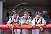 Cortland Crush players in the dugout before playing the Syracuse Spartans at Wallace Field on the SUNY Cortland campus in Cortland, New York on Tuesday, July 4, 2017.