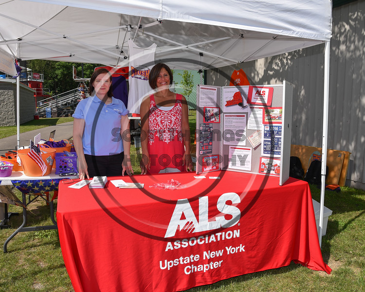 ALS Association table at a Cortland Crush game at Wallace Field on the SUNY Cortland campus in Cortland, New York on Tuesday, July 4, 2017.