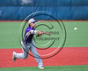 Cortland Crush Dylan Ott (4) throwing the ball for an out against the Syracuse Salt Cats at OCC Turf Field in Syracuse, New York on Saturday, July 8, 2017. Cortland won 10-1.