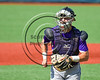 Cortland Crush TJ Wegmann (10) returning from the mound against the Syracuse Salt Cats at OCC Turf Field in Syracuse, New York on Saturday, July 8, 2017. Cortland won 10-1.
