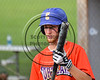 Cortland Crush Dylan Ketch (14) before an at bat against the Sherrill Silversmiths on Greg's Field at Beaudry Park in Cortland, New York on Thursday, July 10, 2017. Cortland won 14-7.