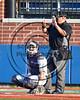 Cortland Crush TJ Wegmann (10) catching against the Syracuse Salt Cats at OCC Turf Field in Syracuse, New York on Sunday, July 16, 2017. Syracuse won 9-4.