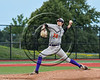 Cortland Crush Will Ginsberg (30) pitching against the Syracuse Salt Cats at OCC Turf Field in Syracuse, New York on Sunday, July 16, 2017. Syracuse won 9-4.