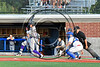 Cortland Crush Jimmy Murray (5) after a hit against the Syracuse Salt Cats at OCC Turf Field in Syracuse, New York on Sunday, July 16, 2017. Syracuse won 9-4.