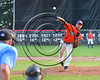 Cortland Crush Murrell Martin Jr. (13) pitching against the Wellsville Nitros at Wallace Field on the SUNY Cortland campus in Cortland, New York on Friday, July 21, 2017. Cortland won 6-5 in 10 innings.