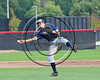 Wellsville Nitros Kevin Higgins (17) throwing the ball against the Cortland Crush at Wallace Field on the SUNY Cortland campus in Cortland, New York on Friday, July 21, 2017. Cortland won 6-5 in 10 innings.