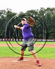 Throwing out the First Pitch before the Cortland Crush played the Sherrill Silversmiths at Wallace Field on the SUNY Cortland campus in Cortland, New York on Sunday, July 23, 2017.