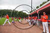 Cortland Crush players celebrate the win over the Sherrill Silversmiths and a playoff berth at Wallace Field on the SUNY Cortland campus in Cortland, New York on Sunday, July 23, 2017. Cortland won 7-2.
