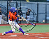 Cortland Crush Josh Reuter (23) hits the ball against  the Syracuse Spartans at OCC Turf Field in Syracuse, New York on Monday, July 24, 2017. Syracuse won 3-2 in 10 innings.
