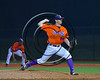Cortland Crush Jake Kinney (44) pitching against the Syracuse Spartans at OCC Turf Field in Syracuse, New York on Monday, July 24, 2017. Syracuse won 3-2 in 10 innings.