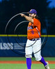 Cortland Crush Clayton Jeffries (8) pitching against the Syracuse Spartans at OCC Turf Field in Syracuse, New York on Monday, July 24, 2017. Syracuse won 3-2 in 10 innings.