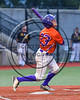 Cortland Crush Josh Reuter (23) after getting a hit against the Syracuse Spartans at OCC Turf Field in Syracuse, New York on Monday, July 24, 2017. Syracuse won 3-2 in 10 innings.