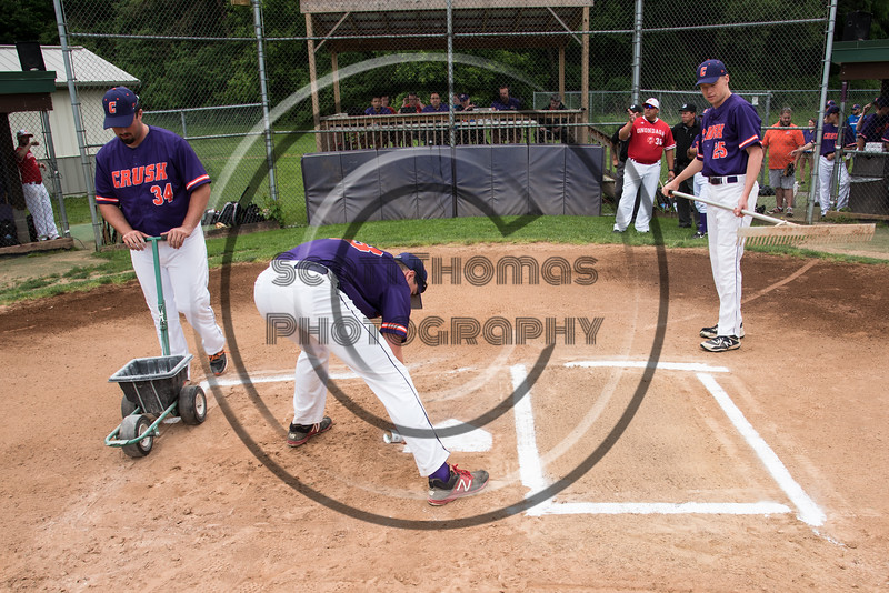 Cortland Crush hosted the Onondaga Flames on Greg's Field at Beaudry Park in Cortland, New York on Sunday, June 3, 2018.