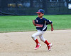 Young Cortland Crush fan running the bases on Greg's Field at Beaudry Park in Cortland, New York on Sunday, June 3, 2018. Cortland won 7-5.