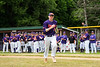 Cortland Crush Alex Flock (2) being introduced before playing the Onondaga Flames on Greg's Field at Beaudry Park in Cortland, New York on Sunday, June 3, 2018.