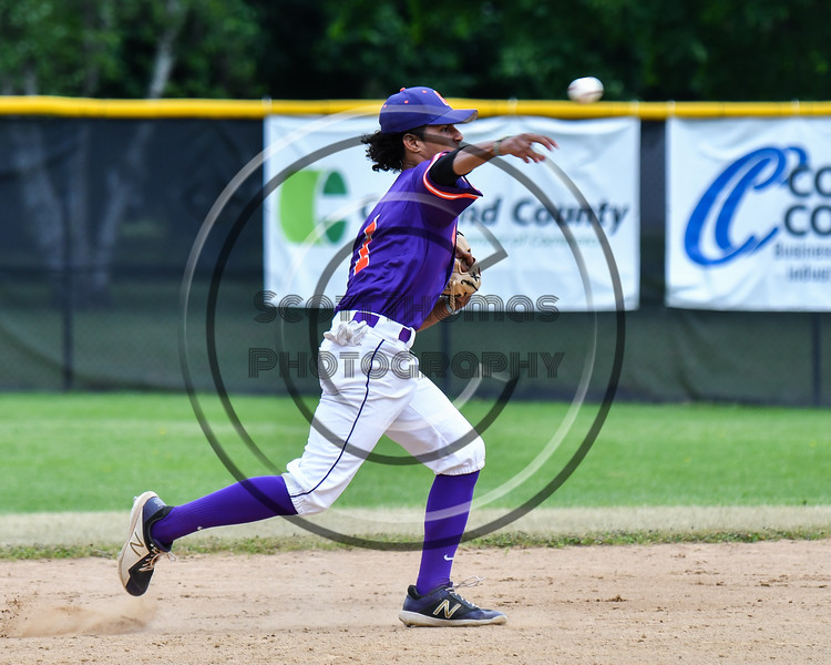 Cortland Crush Iset Maldonado (1) warming up before playing the Onondaga Flames on Greg's Field at Beaudry Park in Cortland, New York on Sunday, June 3, 2018.