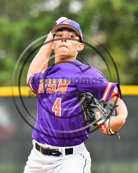 Cortland Crush Justin Pacheco (4) pitching against the Onondaga Flames on Greg's Field at Beaudry Park in Cortland, New York on Sunday, June 3, 2018. Cortland won 7-5.