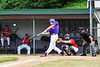 Cortland Crush Zach Kelley (33) blasts a Home Run against the Onondaga Flames on Greg's Field at Beaudry Park in Cortland, New York on Sunday, June 3, 2018. Cortland won 7-5.