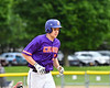 Cortland Crush Zach Kelley (33) jogs around the bases after hitting a Home Run against the Onondaga Flames on Greg's Field at Beaudry Park in Cortland, New York on Sunday, June 3, 2018. Cortland won 7-5.