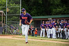 Cortland Crush Zach Kelley (33) being introduced before playing the Onondaga Flames on Greg's Field at Beaudry Park in Cortland, New York on Sunday, June 3, 2018.