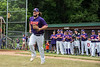 Cortland Crush pitcher Jake Rajsigl (12) being introduced before playing the Onondaga Flames on Greg's Field at Beaudry Park in Cortland, New York on Sunday, June 3, 2018.