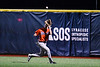 Cortland Crush Dylan Ketch (14) running down and catching a fly ball for an out against the Onondaga Flames at OCC Turf Field in Syracuse, New York on Friday, June 8, 2018. Cortland won 6-4.
