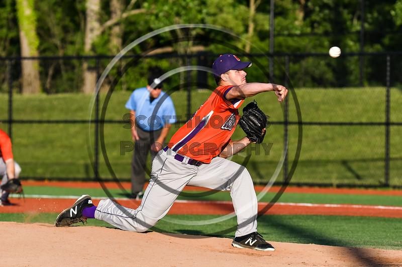 Cortland Crush Jordan Christian (31) pitching against the Onondaga Flames at OCC Turf Field in Syracuse, New York on Fridday, June 8, 2018. Cortland won 6-4.