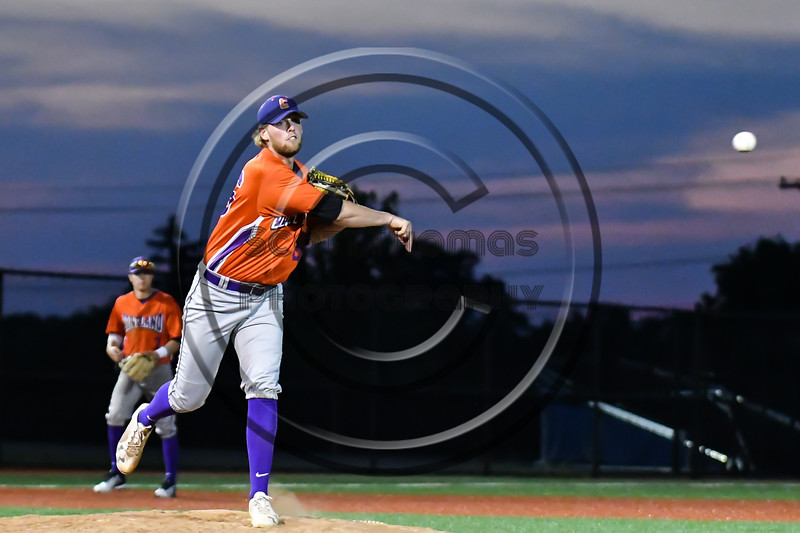Cortland Crush Alex Larson (26) throws to 1st Base  against the Onondaga Flames at OCC Turf Field in Syracuse, New York on Friday, June 8, 2018. Cortland won 6-4.