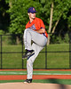 Cortland Crush Jordan Christian (31) pitching against the Onondaga Flames at OCC Turf Field in Syracuse, New York on Friday, June 8, 2018. Cortland won 6-4.