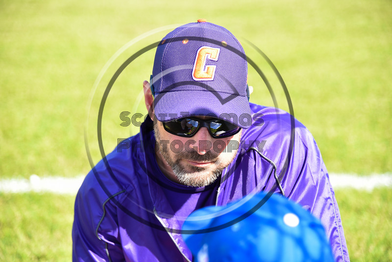 Cortland Crush Assistant Coach Billy McConnell during the game against the Sherrill Silversmiths at the LaFayette Junior and Senior High School Field in LaFayette, New York on Saturday, June 9, 2018. Cortland won 12-6.