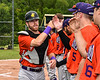 Cortland Crush Justin Valentino (15) being introduced before playing the Sherrill Silversmiths at the LaFayette Junior and Senior High School Field in LaFayette, New York on Saturday, June 9, 2018.