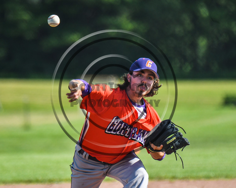 Cortland Crush Ryan Hammond (39) pitching against the Sherrill Silversmiths at the LaFayette Junior and Senior High School Field in LaFayette, New York on Saturday, June 9, 2018. Cortland won 12-6.
