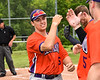 Cortland Crush Alex Babcock (16) being introduced before playing the Sherrill Silversmiths at the LaFayette Junior and Senior High School Field in LaFayette, New York on Saturday, June 9, 2018.
