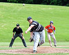 Sherrill Silversmiths Adam Riesberg (21) pitching against the Cortland Crush at the LaFayette Junior and Senior High School Field in LaFayette, New York on Saturday, June 9, 2018. Cortland won 12-6.