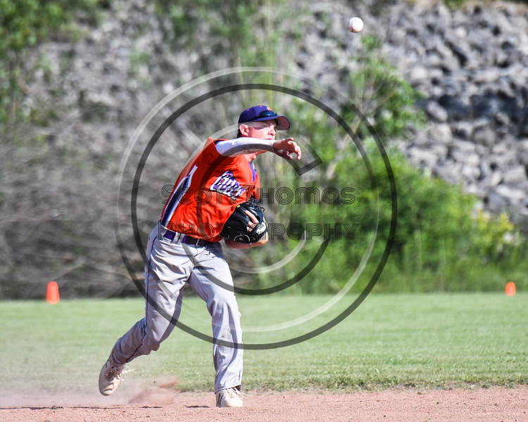 Cortland Crush Anthony Cieszko (3) throwing the ball against the Sherrill Silversmiths at the LaFayette Junior and Senior High School Field in LaFayette, New York on Saturday, June 9, 2018. Cortland won 12-6.