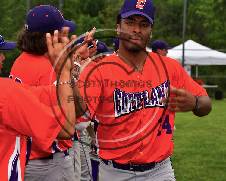 Cortland Crush Shane Epps (24) after pre-game warm-ups at the LaFayette Junior and Senior High School Field in LaFayette, New York on Saturday, June 9, 2018.
