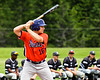 Cortland Crush Alex Babcock (16) at bat against the Sherrill Silversmiths at the LaFayette Junior and Senior High School Field in LaFayette, New York on Saturday, June 9, 2018. Cortland won 12-6.