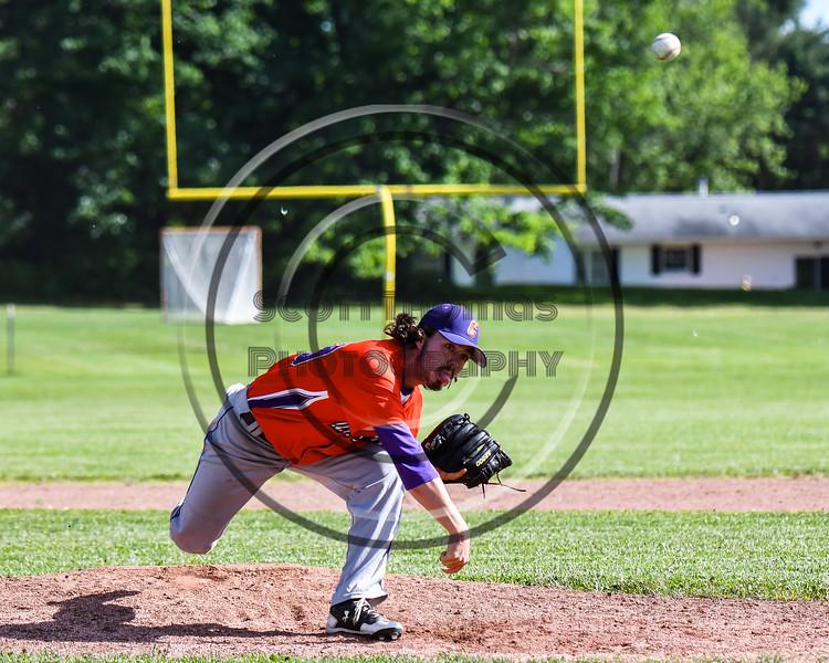 Cortland Crush Ryan Hammond (39) pitching against the Sherrill Silversmiths at the LaFayette Junior and Senior High School Field in LaFayette, New York on Saturday, June 9, 2018. Cortland won 12-6.