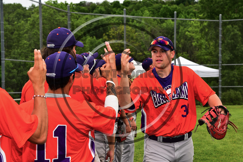 Cortland Crush Zach Kelley (33) after pre-game warm-ups at the LaFayette Junior and Senior High School Field in LaFayette, New York on Saturday, June 9, 2018.