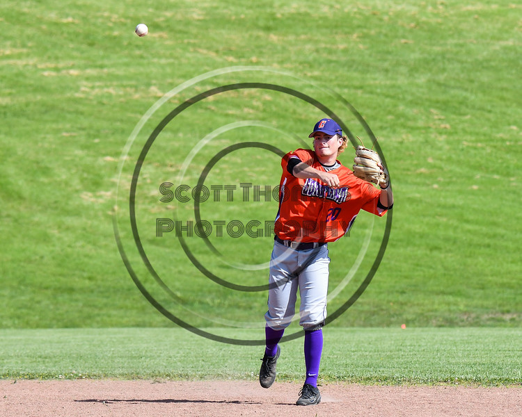 Cortland Crush Charlie Hammell (20) warming up to play against the Sherrill Silversmiths at the LaFayette Junior and Senior High School Field in LaFayette, New York on Saturday, June 9, 2018. Cortland won 12-6.